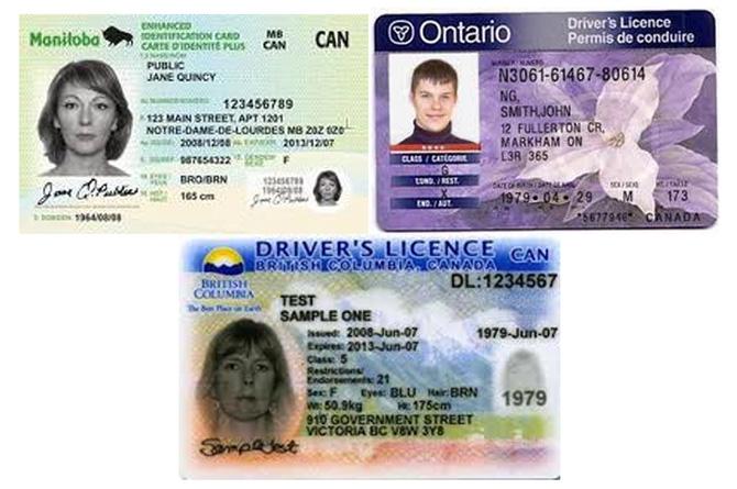 گواهینامه رانندگی در كانادا