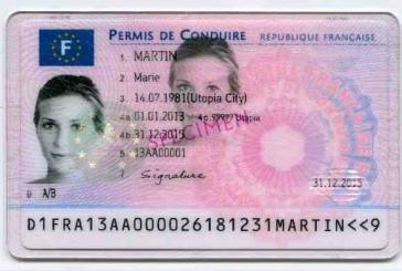 گواهی نامه رانندگی در فرانسه