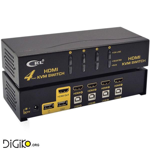 KVM سوئیچ 4 پورت HDMI+USB (مارک CKL)