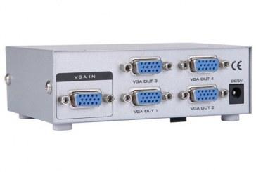 اسپلیتر ۱ به۴ پورت (VGA 250 MHZ)